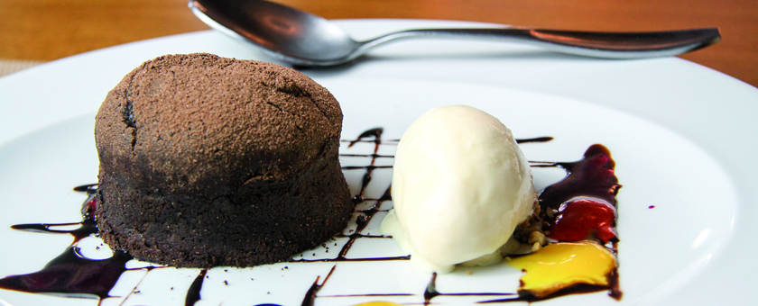 SUFLE DE CHOCOLATE AMARGO