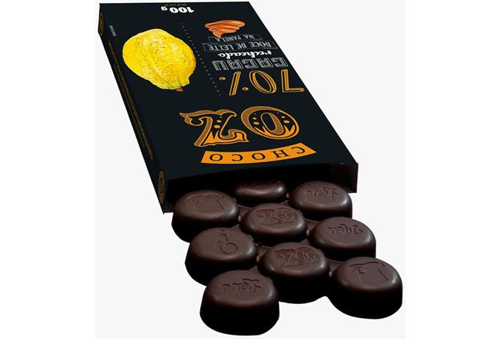 Choco OZ lança linha 70% Cacau com sete sabores