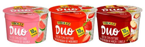 Duo Tirolez, Queijo Cottage com geleia de frutas