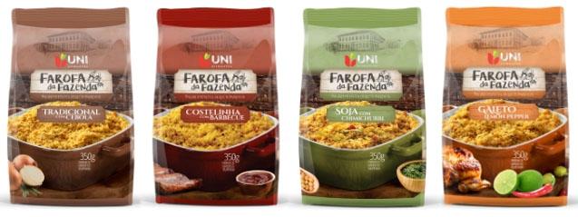 Linha de farofas saudáveis é o novo lançamento da Uni Alimentos