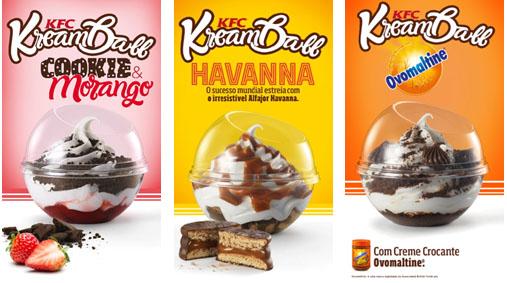 KFC lança linha de sorvetes Kream Ball™ no Brasil