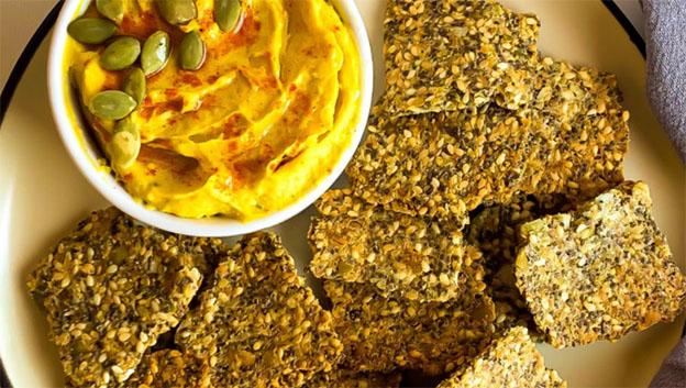 Receita de Cracker de sementes e aveia Da Magrinha