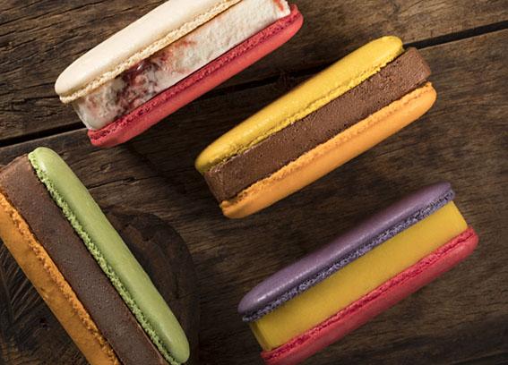 Sanduíche de sorvete agora no Shopping Ibirapuera