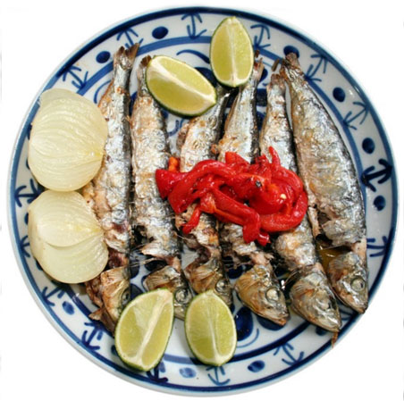 Receita da sardinha na brasa
