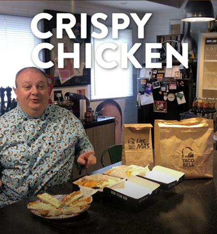 Taco Bell traz Erick Jacquin em ação viral do novo Crispy Chicken