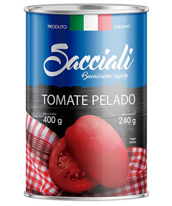 Especializada em gastronomia italiana, Sacciali lança Tomate Pelado