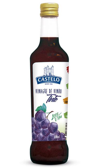 Castelo Alimentos lança Vinagre de Vinho Tinto 100% Natural